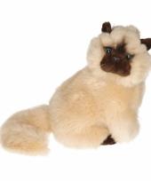 Luie zittende perzische katten knuffel
