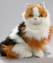 Luie zittende rood bonte katten knuffel