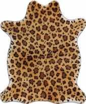 Luipaard nep dierenvel kleed plaid 90 cm