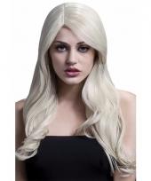 Luxe blonde dames pruik golvend