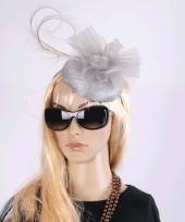 Luxe grote grijze hoed voor dames