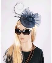 Luxe grote navy hoed voor dames 10060552