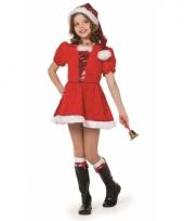 Luxe kerstmis kostuum voor meiden