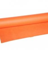 Luxe oranje tafelkleed van vilt 10056181