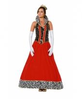 Luxe rode prinsessen jurk
