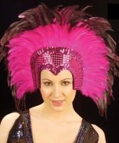 Luxe roze veren tooi voor dames