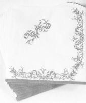Luxe servetten met zilveren versiering