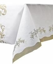 Luxe tafelkleed met gouden versiering