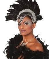 Luxe zwarte veren tooi