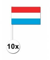 Luxemburg zwaai vlaggetjes 10 stuks