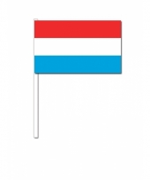 Luxemburg zwaai vlaggetjes 12 x 24 cm
