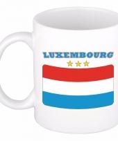 Luxemburgse vlag koffiebeker 300 ml