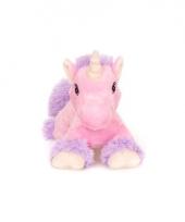 Magnetron roze paard knuffeldier 18 cm