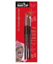Make up penselen 3 stuks