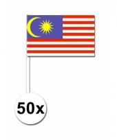 Maleisie zwaai vlaggetjes 50 stuks