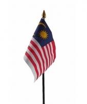 Maleisische landenvlag op stokje