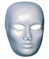 Mannen gezicht masker wit