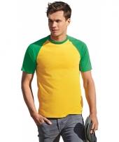 Mannen shirts geel met groen