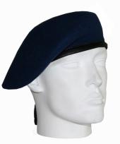 Marine blauwe soldaat baret