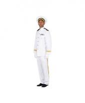 Marine officier kapitein kostuum wit
