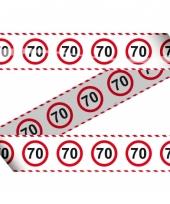 Markeerlint met stopborden 70