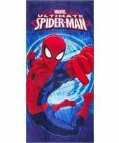 Marvel spiderman badlaken strandlaken blauw 70 x 140 cm