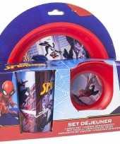 Marvel spiderman ontbijtservies voor jongens