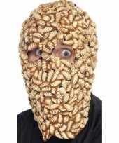 Masker hoofd met maden