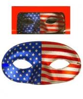 Masker voor gala in de amerikaanse kleuren
