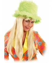 Mega hoge hoed neon groen