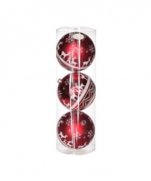 Mega kerstballen rood 3 stuks 10067948