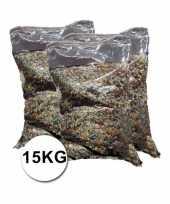 Mega verpakking gekleurde confetti ca 15 kilo