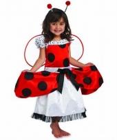 Meisjes jurkje rood met zwart