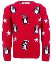 Meisjes kerstmis trui met pinguins