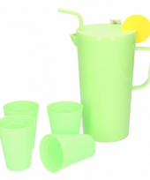 Melamine schenkkan groen 23 cm