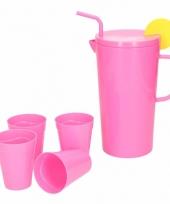 Melamine schenkkan roze 23 cm