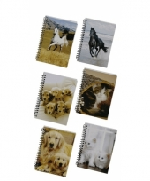 Memo boekje a6 golden retriever pupies
