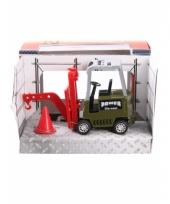Metalen groene heftruck speelgoed 17 cm 10077616
