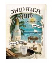 Metalen poster muurdecoratie jamaica rum 30 x 40 cm