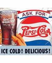 Metalen reclamebord pepsi cola ice cold 30 x 40 cm