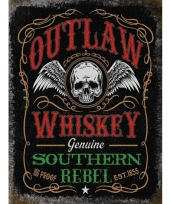 Metalen reclamebord whiskey rebel