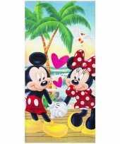 Mickey en minnie badlaken strandlaken 70 x 140 cm