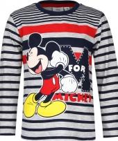 Mickey mouse t-shirt blauw grijs voor jongens