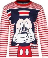 Mickey mouse t-shirt rood wit voor jongens