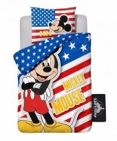 Mickey mouse usa dekbedovertrek jongens 140 x 200 cm