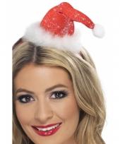 Mini kerstmuts op diadeem