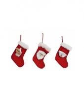 Mini kerstsok met kerstbeer
