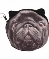 Mini tasje zwarte mopshond
