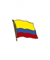 Mini vlaggetjes pins colombia