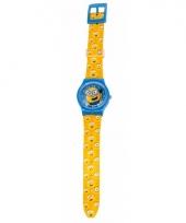 Minions stuart horloge met wijzers voor kinderen